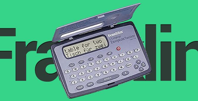 Franklin TWE-118 5-Language European Translator - digitální překladač